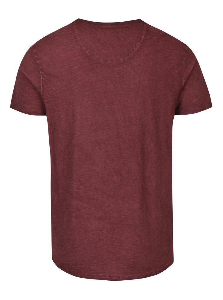 Tricou bordo cu aspect decolorat pentru barbati Garcia Jeans