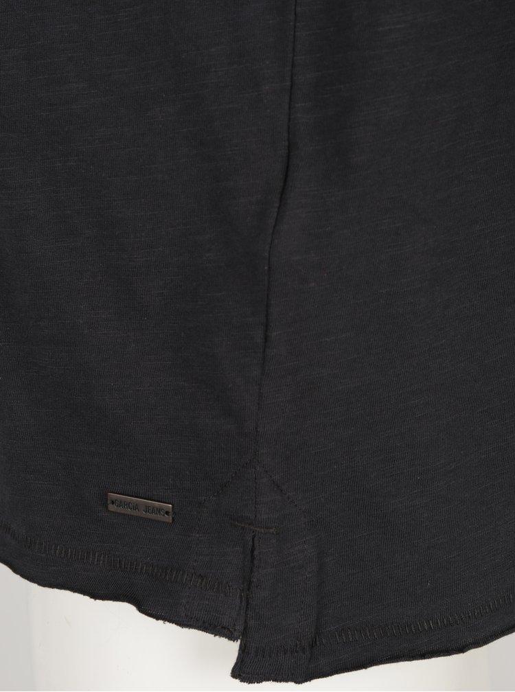 Tricou negru cu print pentru barbati Garcia Jeans