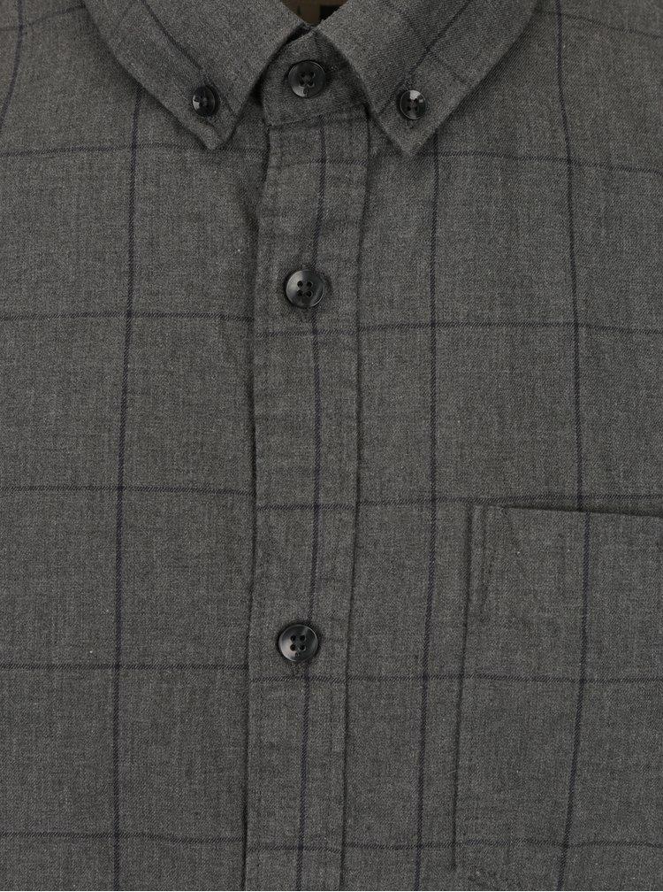 Šedá pánská kostkovaná košile Garcia Jeans