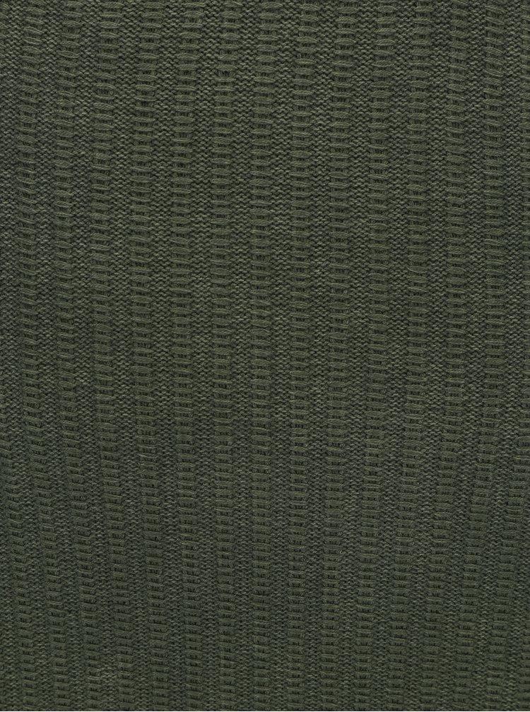 Pulover verde cu dungi in relief pentru barbati Garcia Jeans