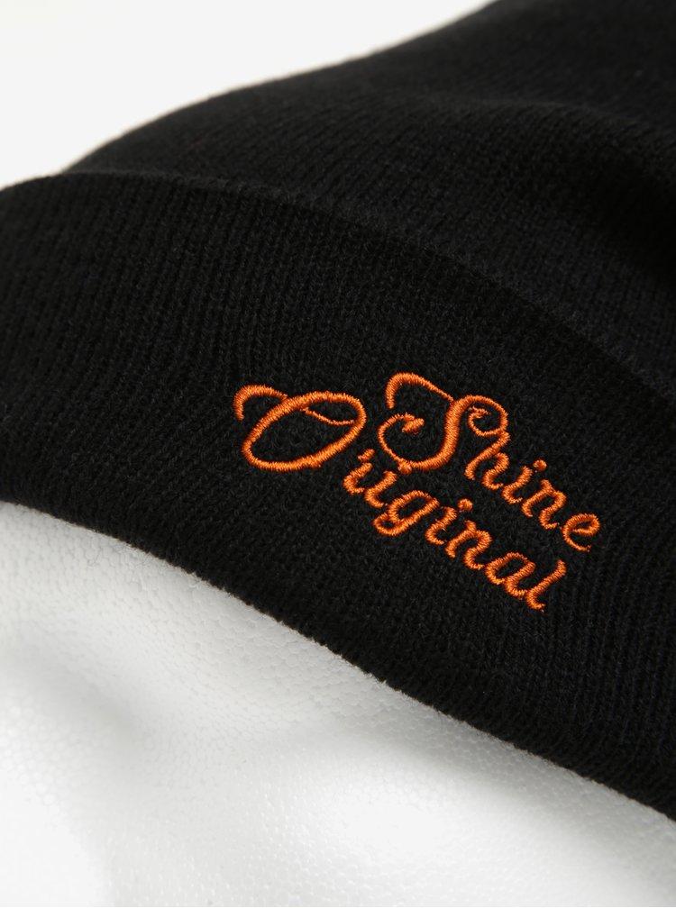 Černá čepice s výšivkou Shine Original