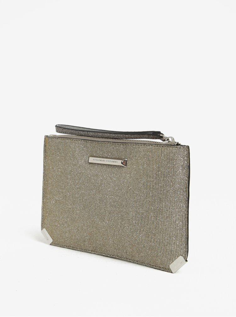 Trblietavá listová kabelka v zlatej a striebornej farbe Dorothy Perkins
