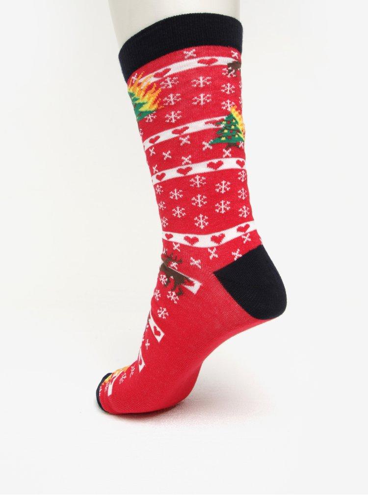 Červené vzorované ponožky Shine Original