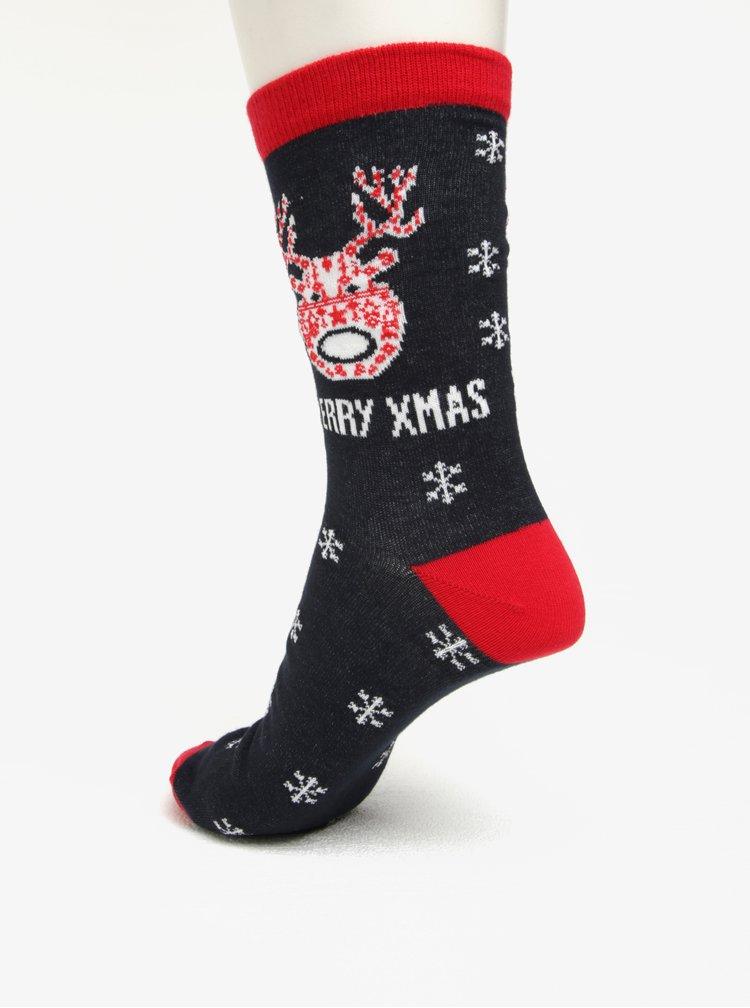 Tmavě modré vzorované ponožky Shine Original