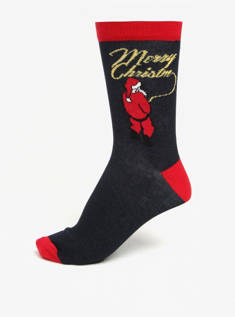 Černé vzorované ponožky Shine Original