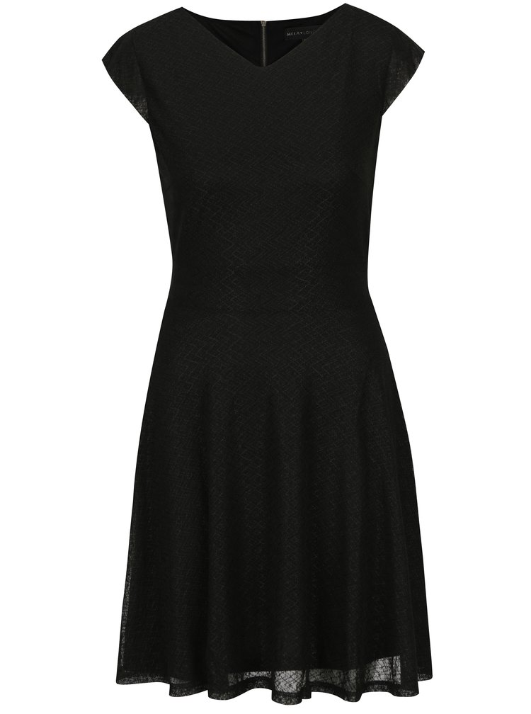 Černé šaty se zavazováním v pase Mela London