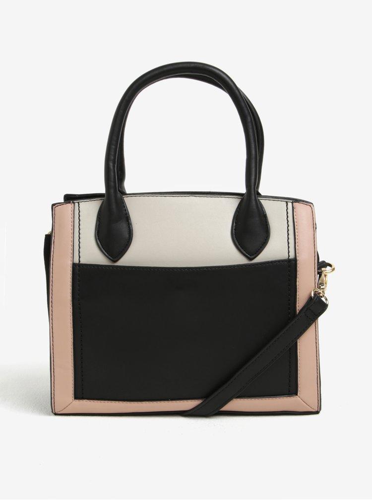 Krémovo-černá kabelka Dorothy Perkins