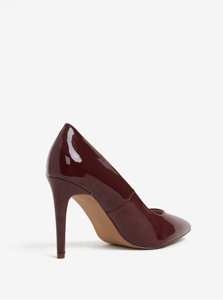 Pantofi cu toc rosii cu aspect lacuit Dorothy Perkins