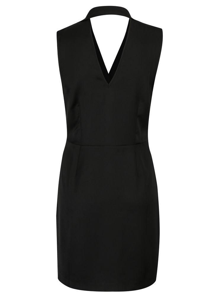 Černé zavinovací šaty Miss Selfridge