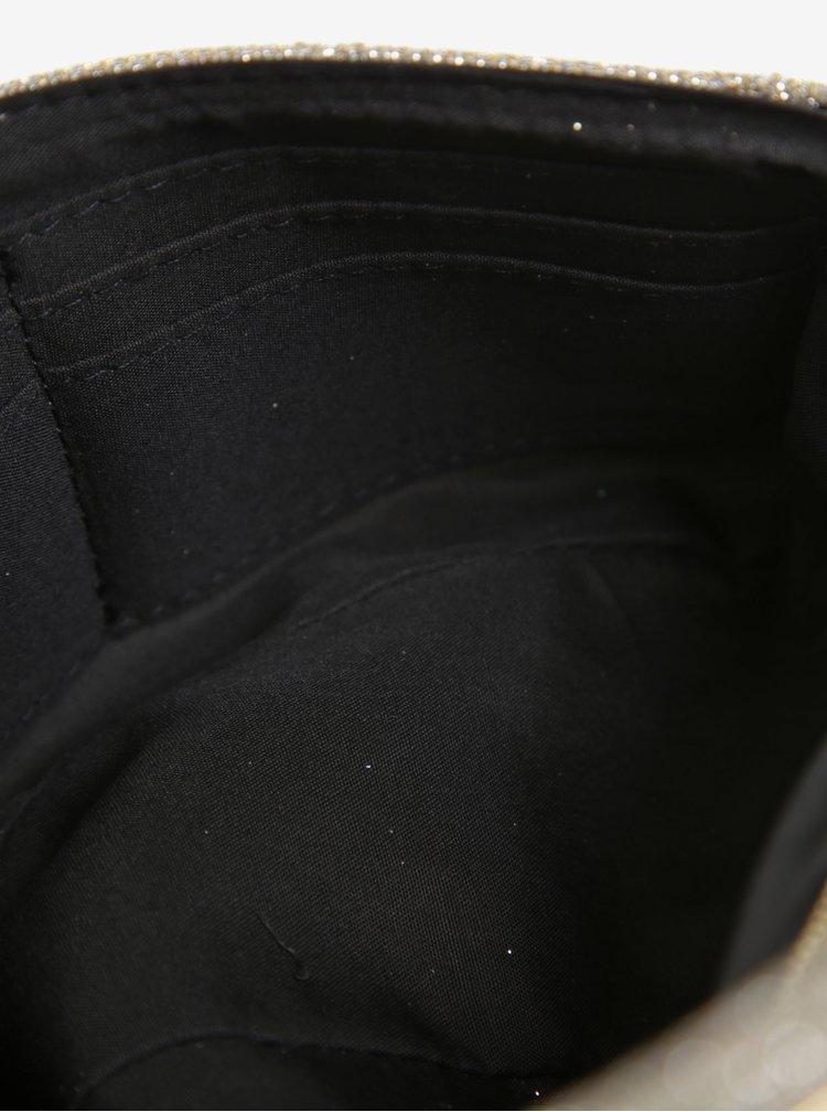 Třpytivá crossbody kabelka ve zlaté barvě s řetízkem Dorothy Perkins