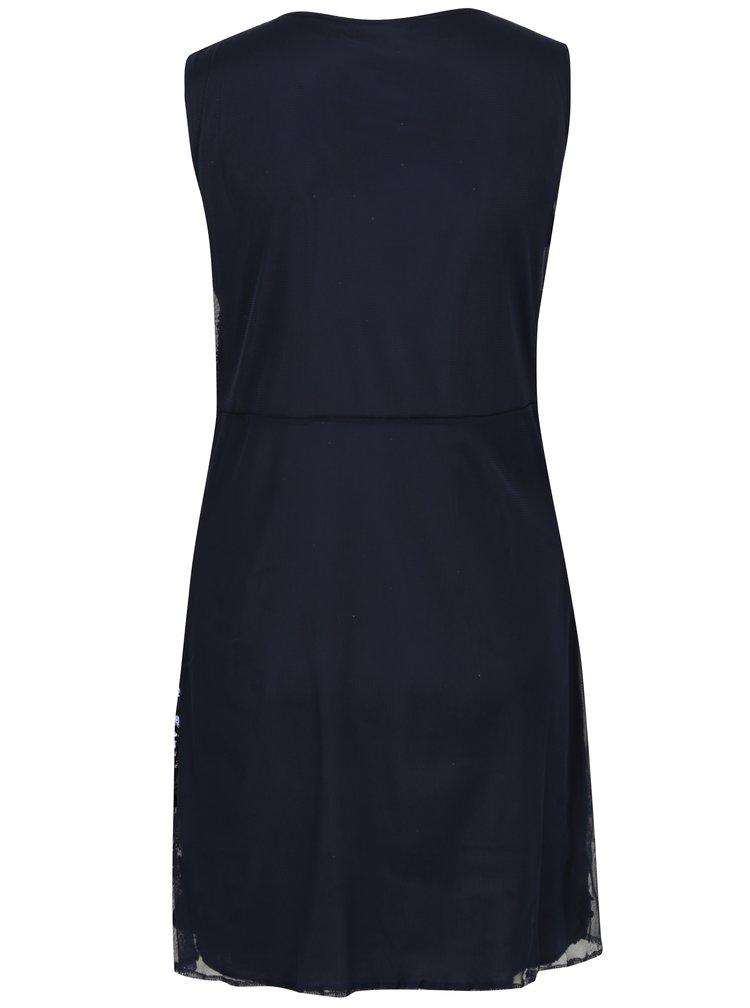 Tmavě modré šaty s flitry Mela London