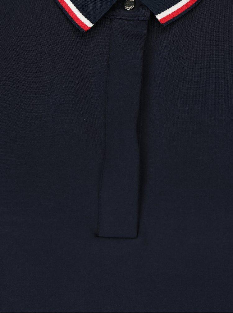 Tmavě modré šaty s límečkem a plisovanou sukní Tommy Hilfiger