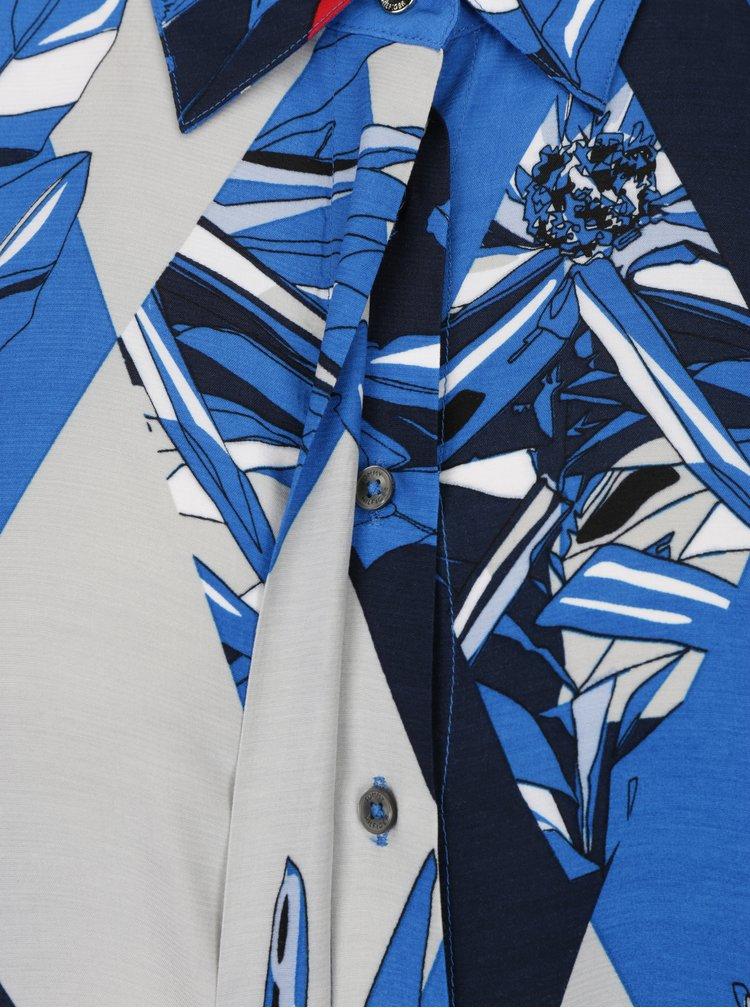 Krémovo-modrá vzorovaná halenka Tommy Hilfiger