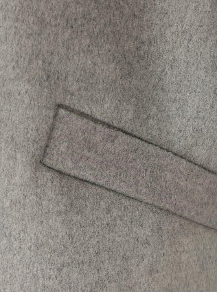 Světle šedý dámský lehký vlněný kabát Tommy Hilfiger