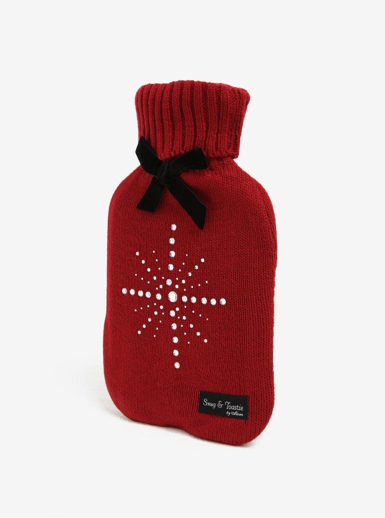 Termofor rosu&negru cu aplicatii decrative Something Special