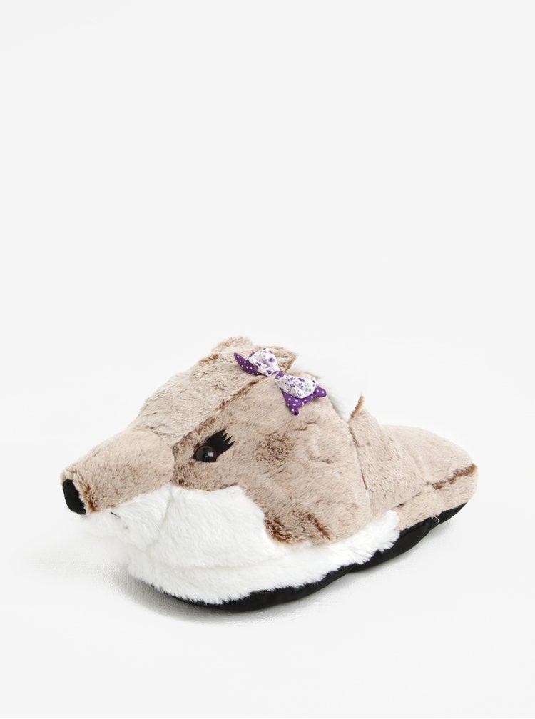 Papuc de casa in forma de vulpe cu functie de masaj - Something Special