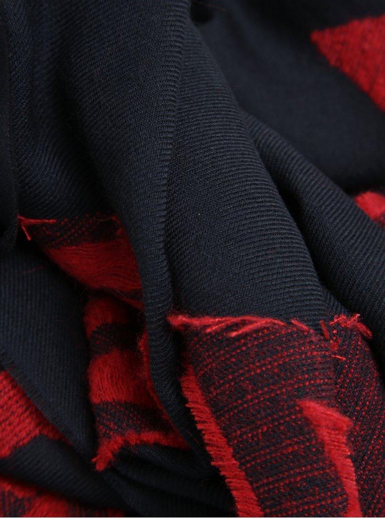Tmavomodrý dámsky šál s motívom hviezd Tommy Hilfiger Logo