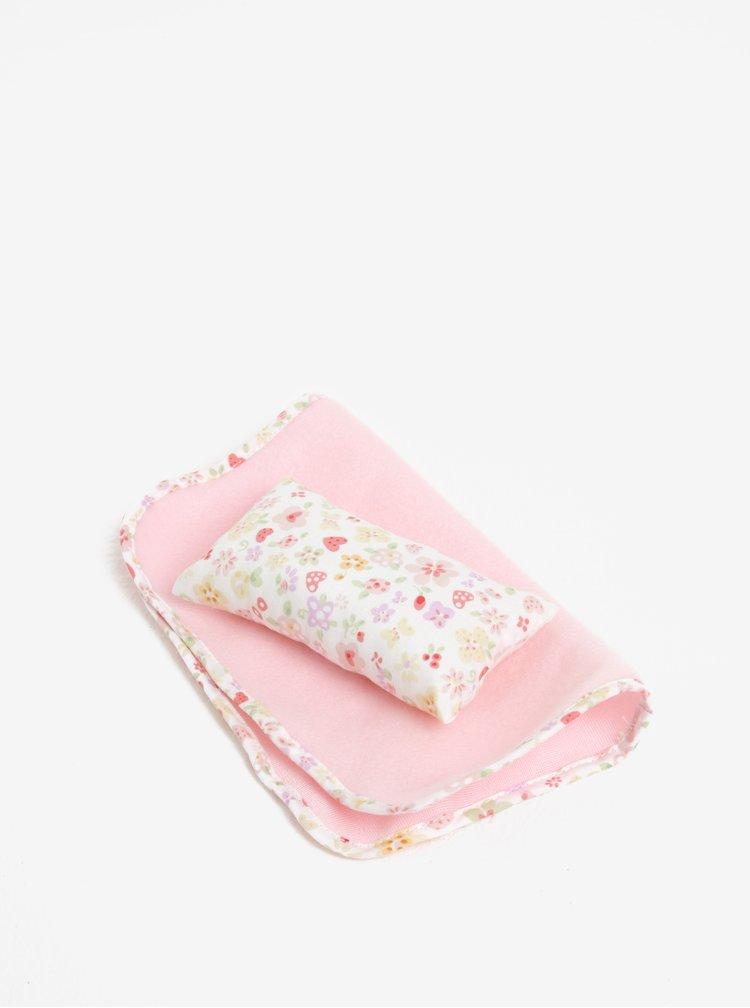 Růžový plyšový králíček s přikrývkou a polštářem Something Special