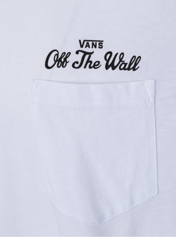 Bluza cu maneci 3/4 raglan si print text pe spate pentru barbati -  Vans Original Lock