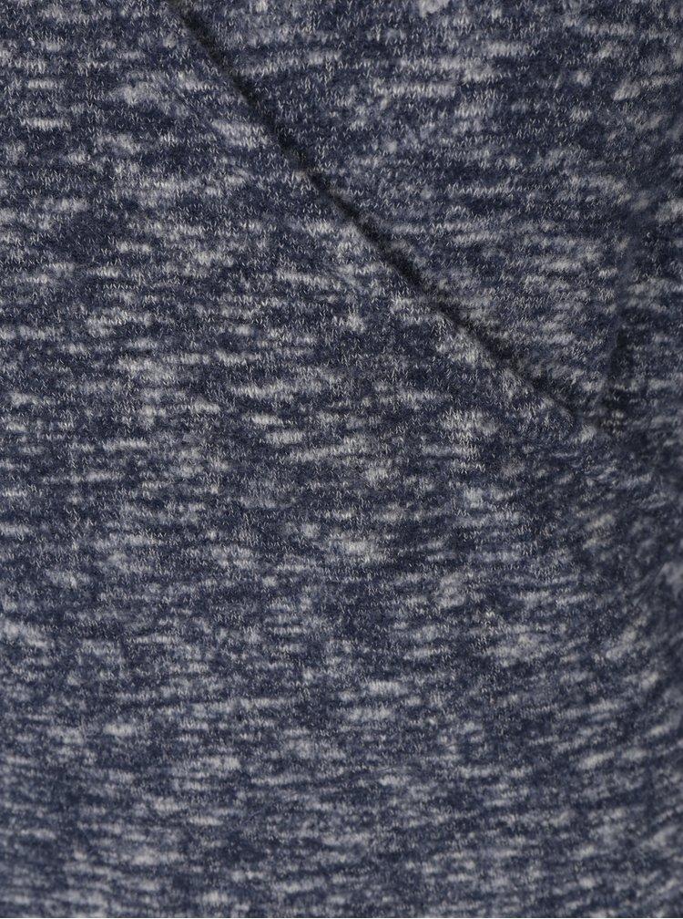 Tmavě modrý žíhaný top s překládaným výstřihem Dorothy Perkins