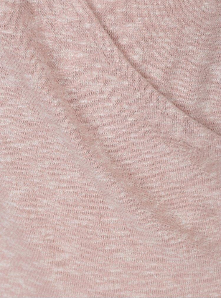 Světle růžový top s překládaným výstřihem Dorothy Perkins