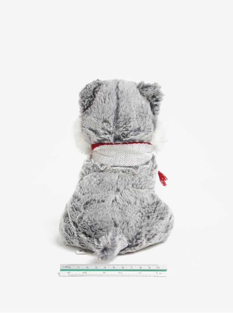 Sivý nahrievací plyšový psík Husky Something Special