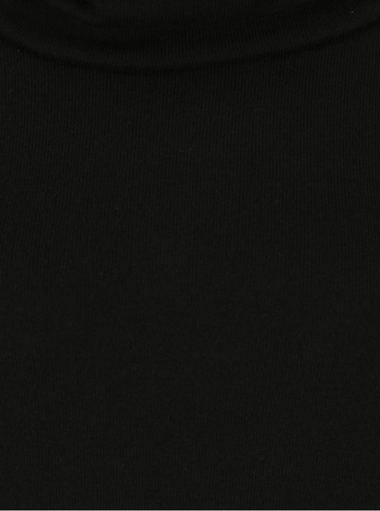 Pulover negru cu guler amplu Dorothy Perkins