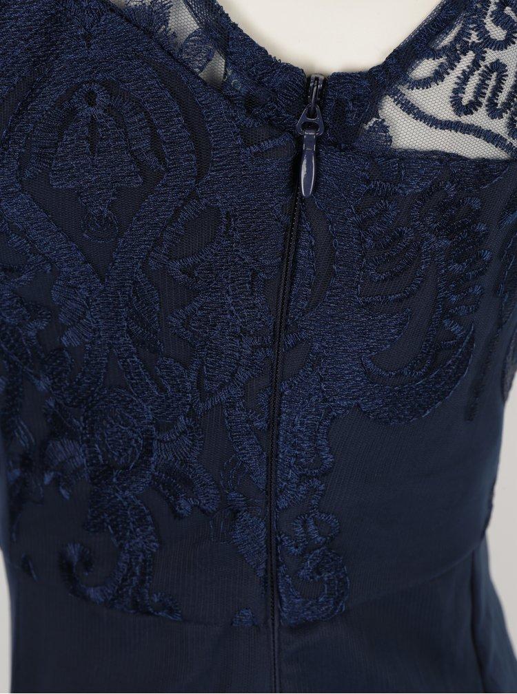 Tmavě modré krajkové šaty Chi Chi London Jourdanne