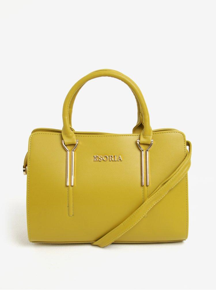 Žlutá kabelka s detaily ve zlaté barvě Esoria Cilia