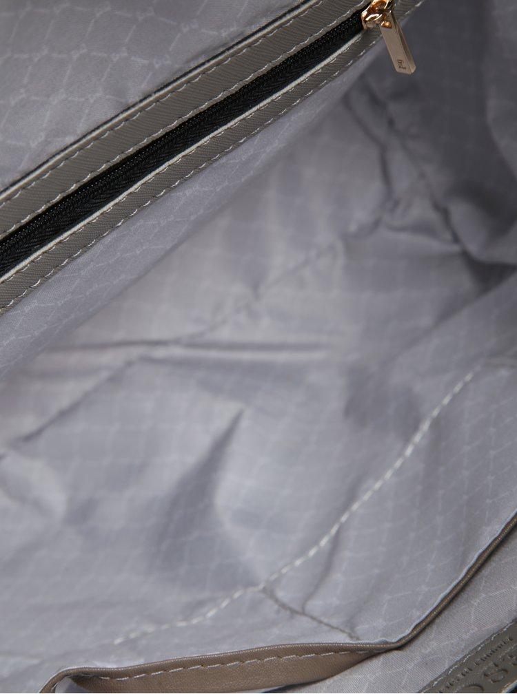 Geanta de mana/crossbody gri din piele sintetica Esoria Mozami