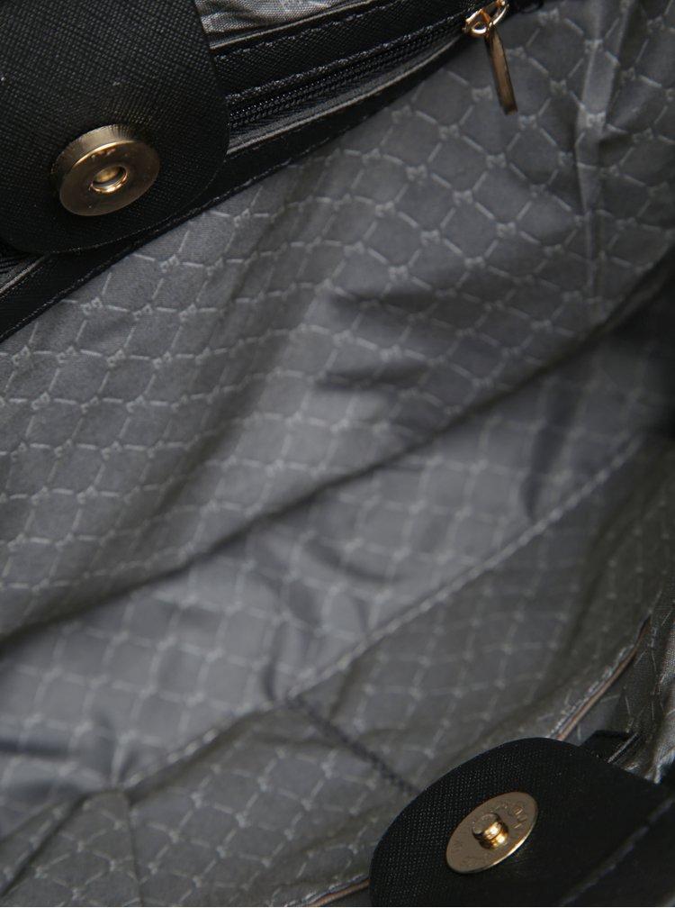 Geanta de mana/crossbody neagra din piele sintetica  Esoria Lilza