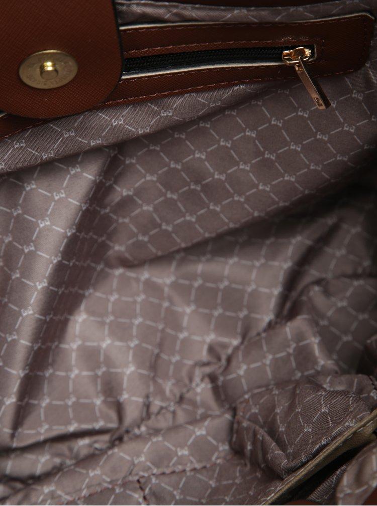 Geanta de mana/crossbody maro din piele sintetica Esoria Lilza