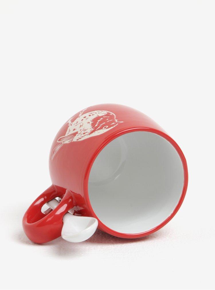 Červený hrnek s talířkem CGB