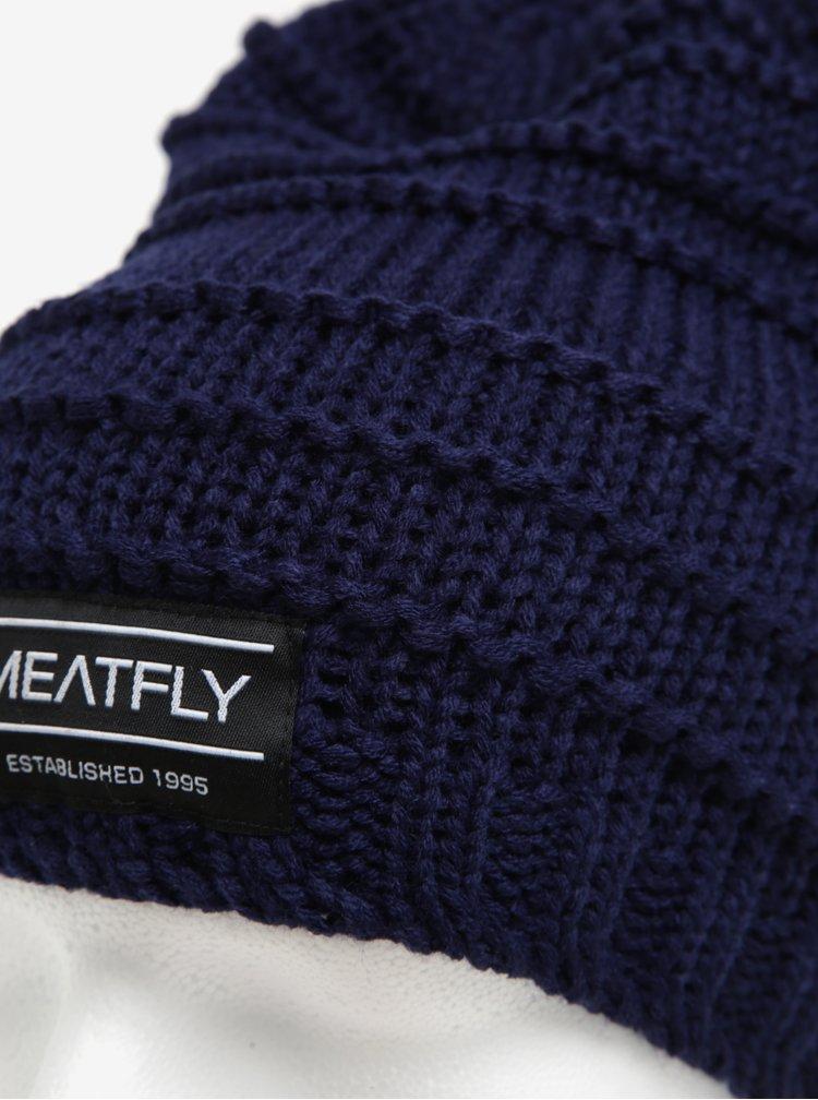 Caciula bleumarin cu aplicatie tip logo pentru barbati - MEATFLY Rude Beanie
