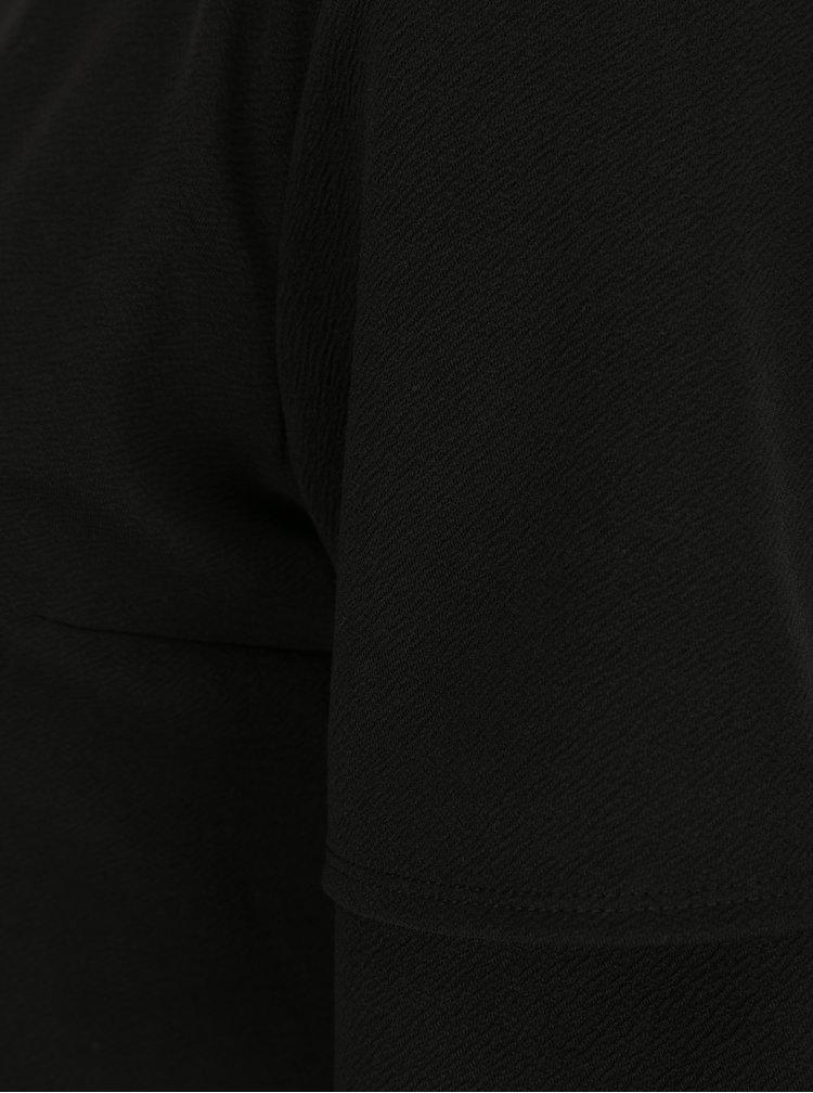Černé šaty s volánovými rukávy Dorothy Perkins