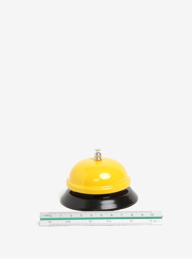 Clopotel galben de birou cu print - CGB