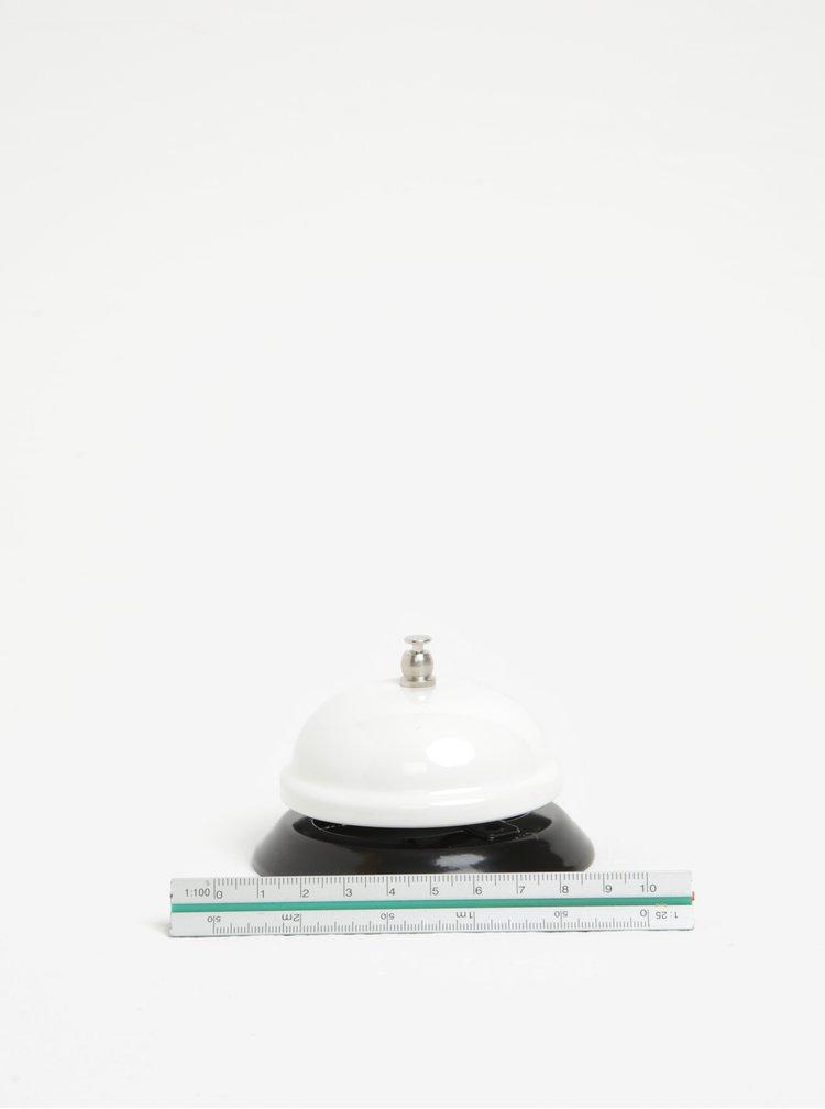 Černo-bílý stolní zvonek s potiskem CGB