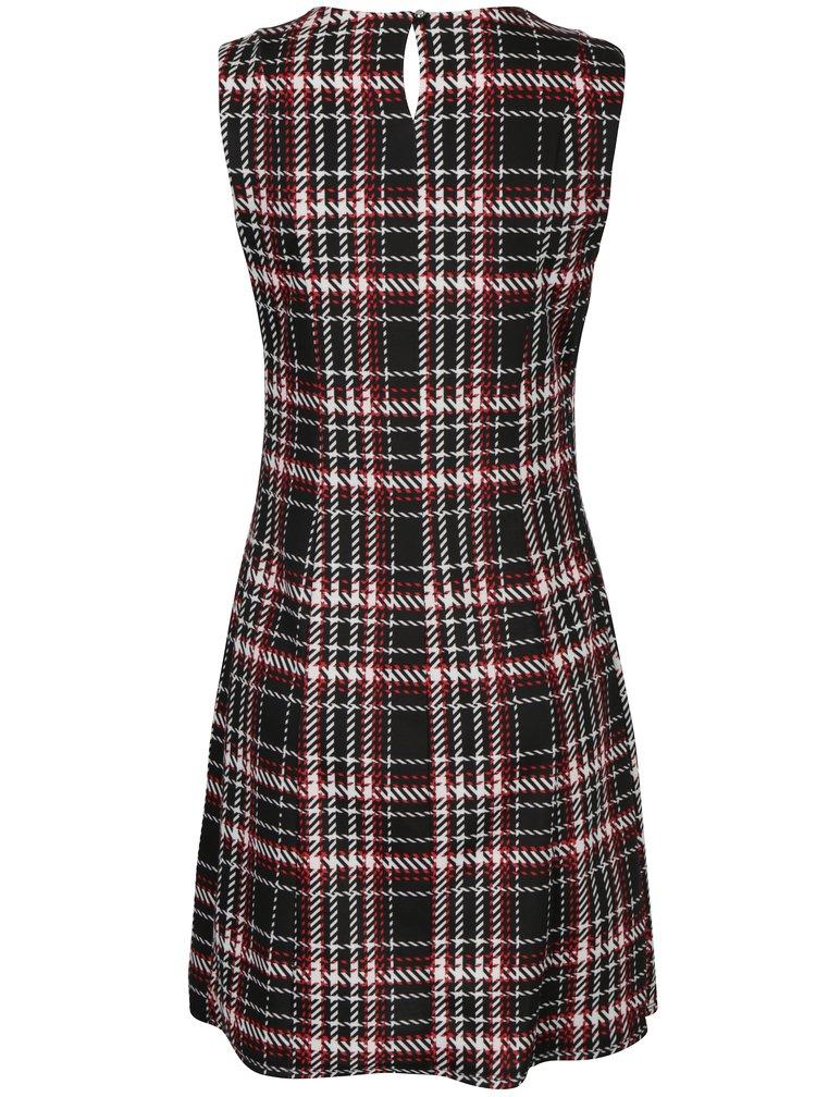 Červeno-černé kostkované šaty bez rukávů Dorothy Perkins