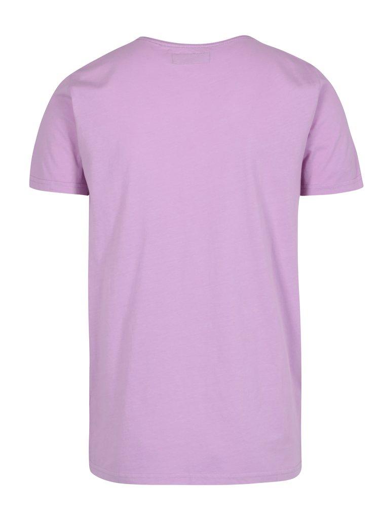 Růžové tričko s krátkým rukávem a náprsní kapsou Shine Original
