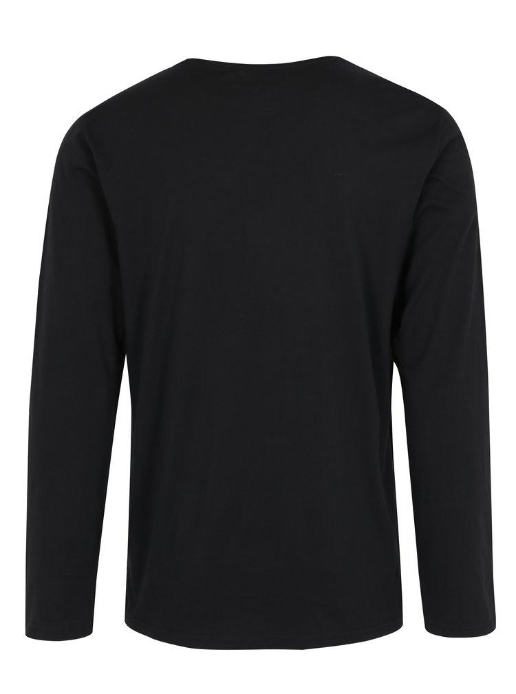 Bluza basic neagra cu buzunar Shine Original