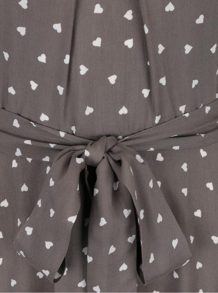 Šedé šaty s motivem srdíček Billie & Blossom