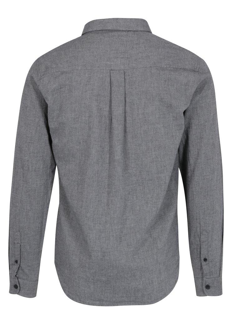 Sivá košeľa s vreckom Shine Original