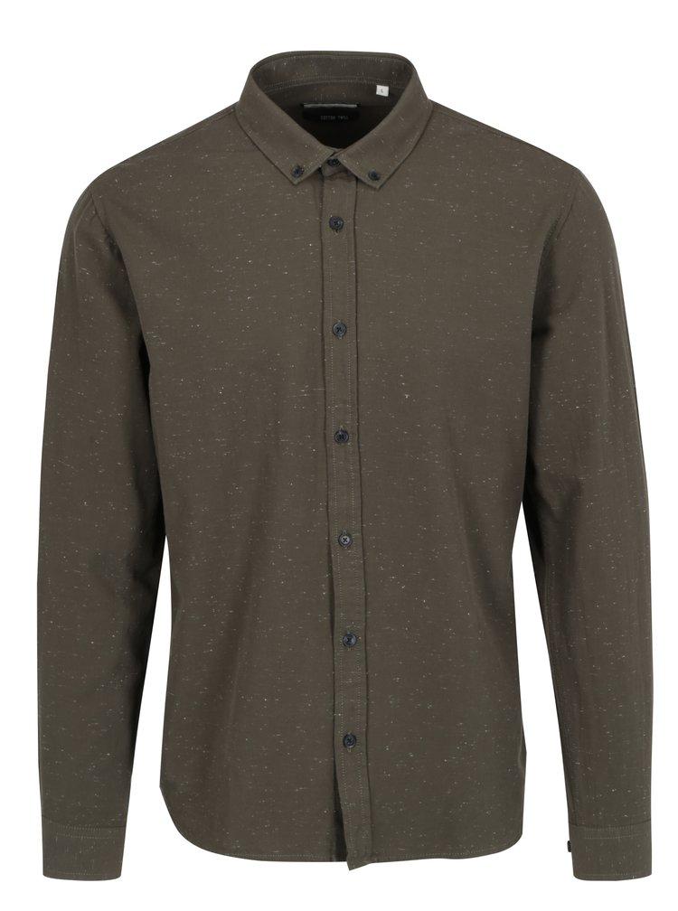 Khaki žíhaná košile Shine Original