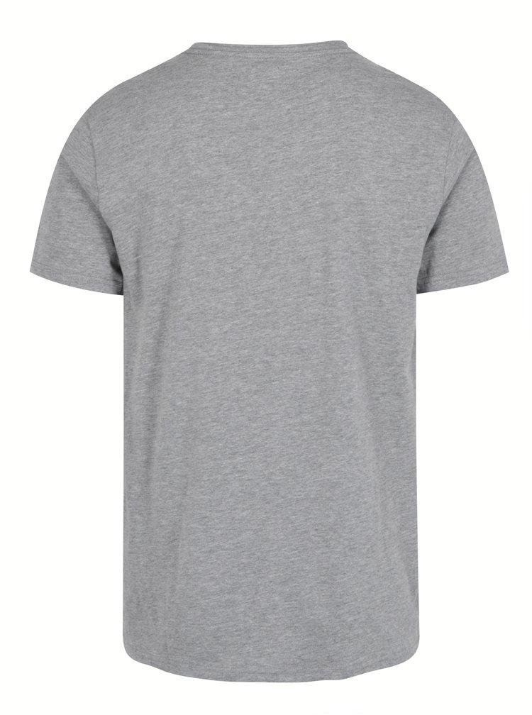 Černo-šedé tričko s potiskem Shine Original