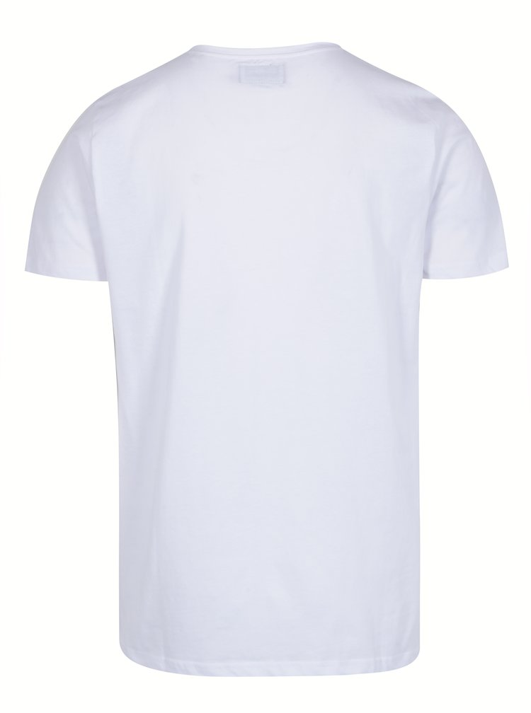 Tricou alb din bumbac cu print Rock&Roll - Shine Original