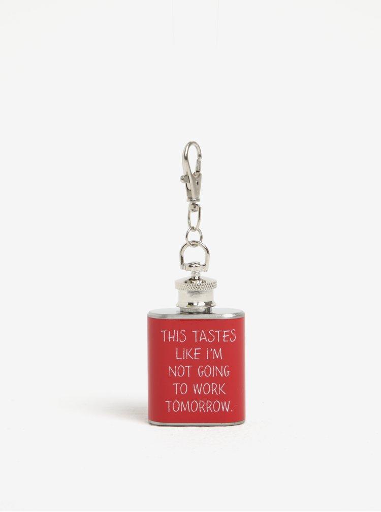 Červená mini placatka s karabinou CGB