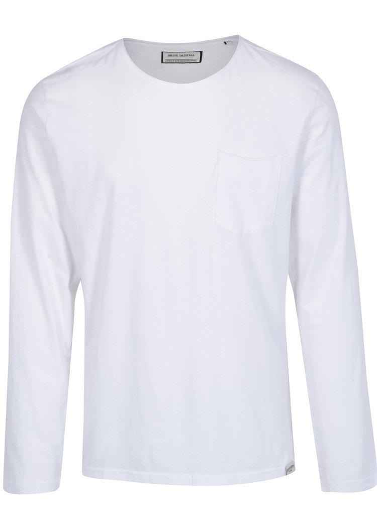 Bluza alba basic cu buzunar Shine Original