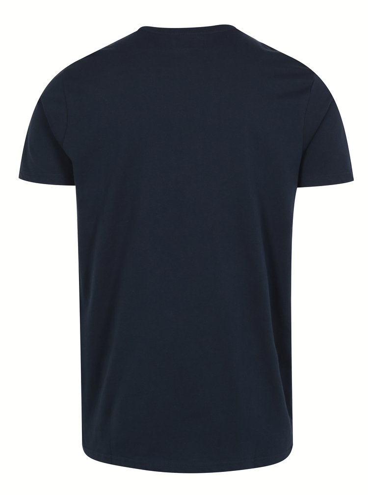 Tricou bleumarin din bumbac cu print - Shine Original