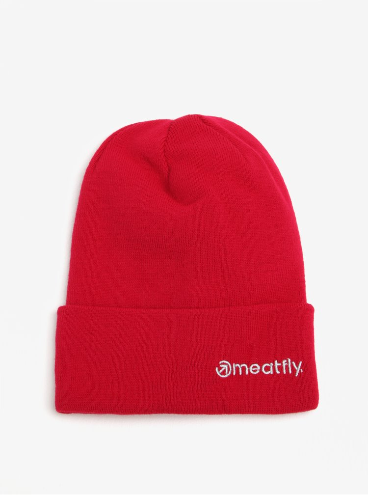 Červená pánská čepice MEATFLY Dope Beanie