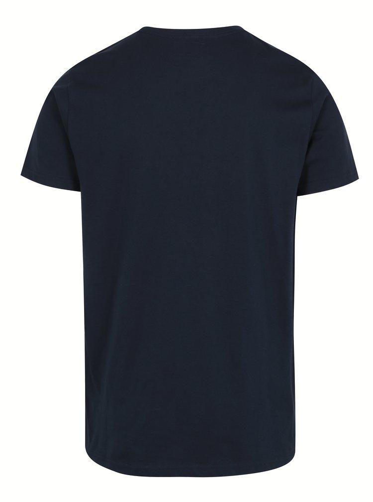 Tricou bleumarin din bumbac cu print-  Shine Original